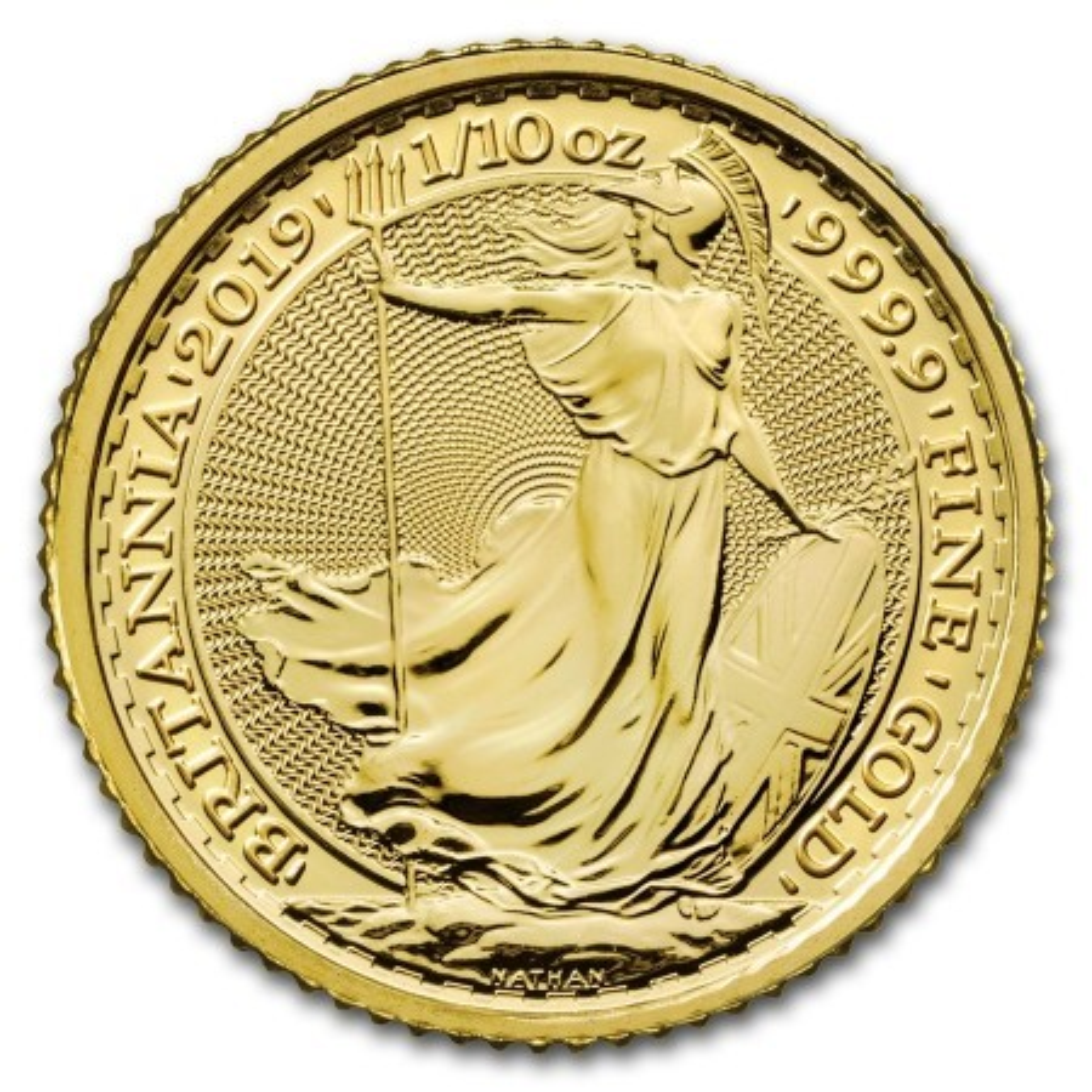 1/10 Troy ounce gouden munt Britannia