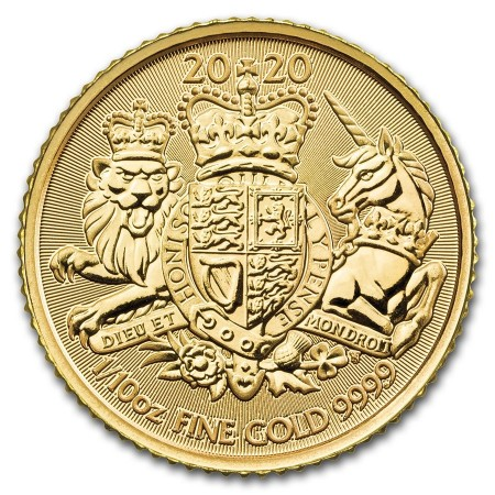 1/10 Troy ounce gouden munt Royal Arms 2020