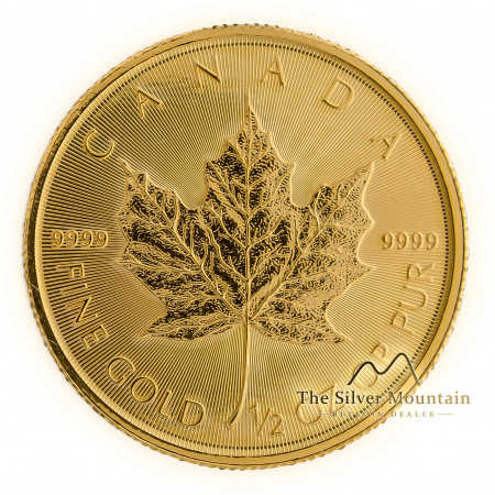 1/2 troy ounce goud maple leaf munt 2020