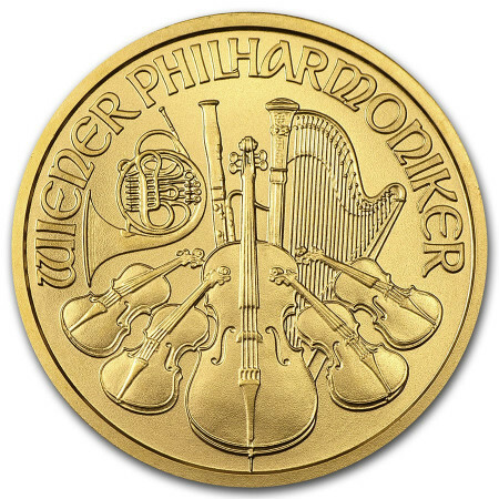 1/2 Troy ounce gouden munt Philharmoniker circulated