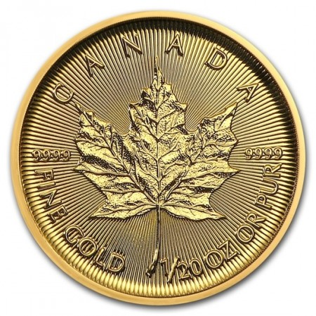 1/20 Troy ounce gouden Maple Leaf munt 2019