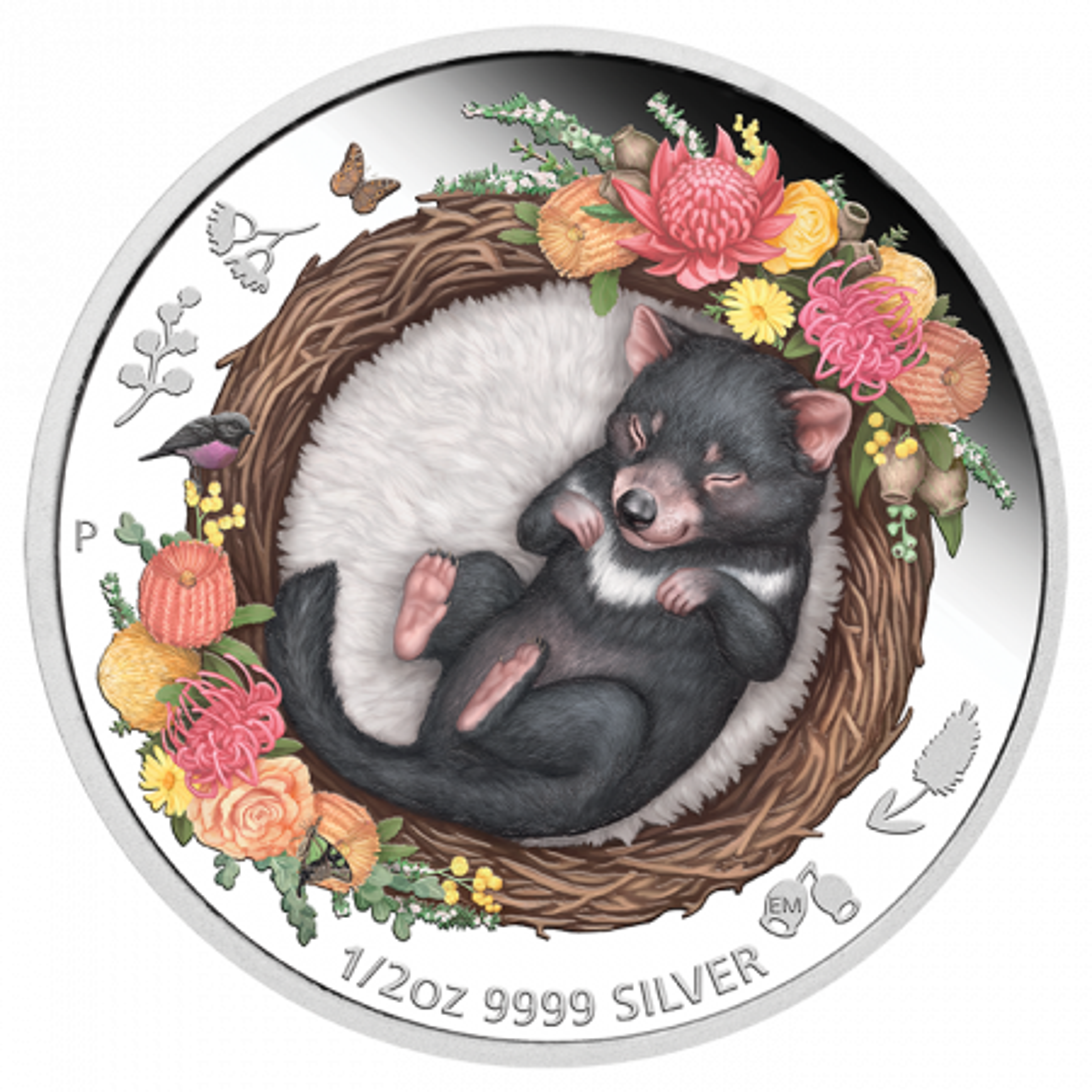 1/2 troy ounce zilveren munt Tasmaanse duivel