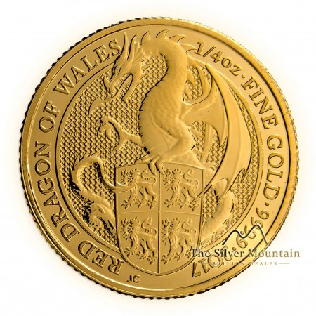 1/4 Troy ounce gouden munt Queens Beasts Dragon 2017