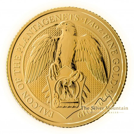 1/4 Troy ounce gouden munt Queens Beasts Falcon 2019