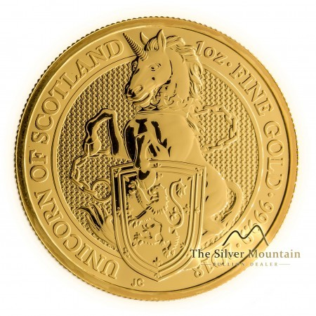 1 Troy ounce goud Queens Beasts 2018 Unicorn