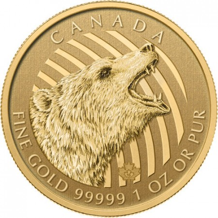1 troy ounce Gouden munt Grizzly Bear 2016
