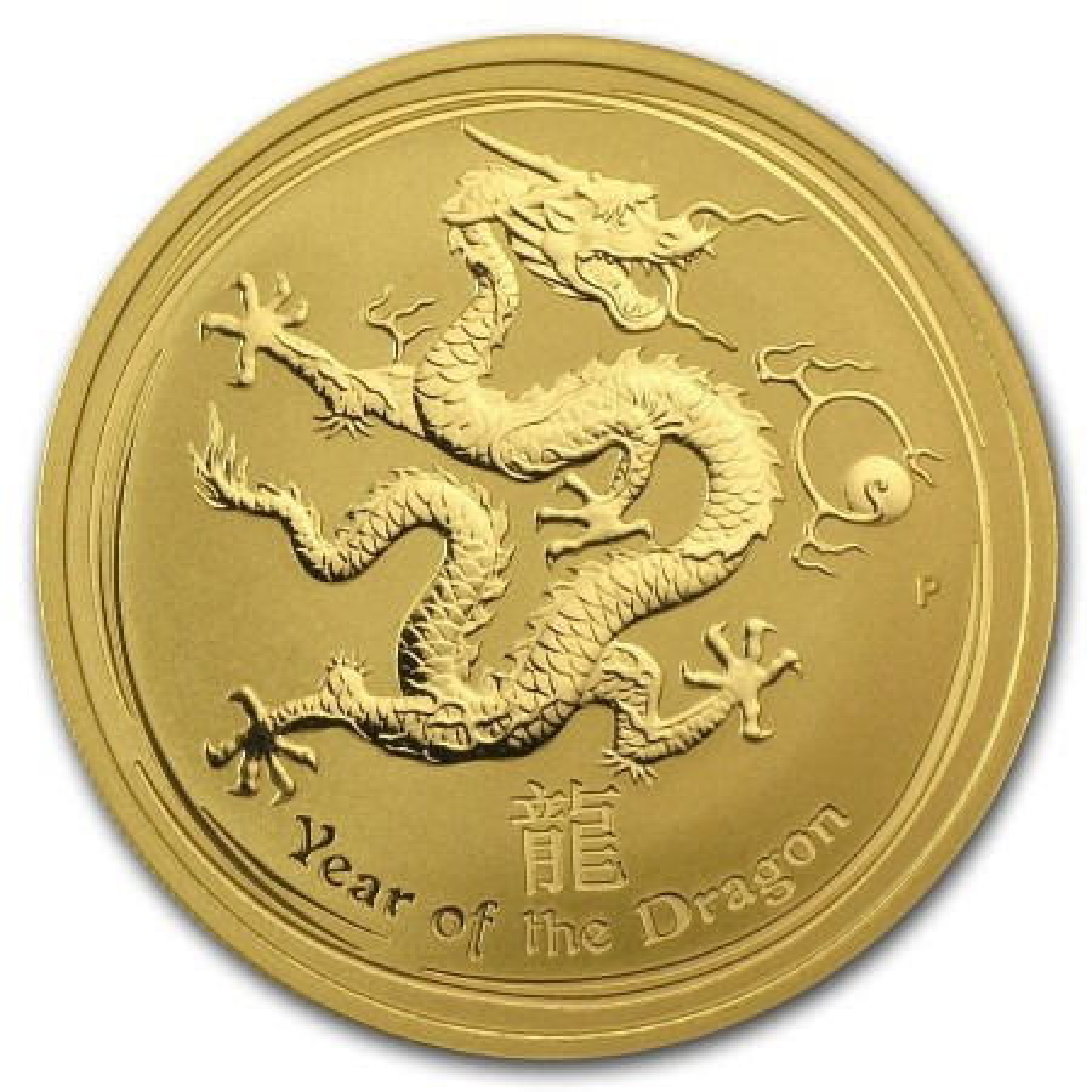 1 Troy ounce gouden munt Lunar 2012