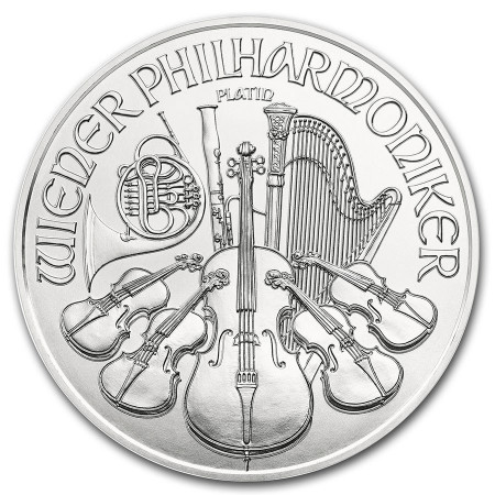 1 Troy ounce Platina Philharmoniker munt 2021