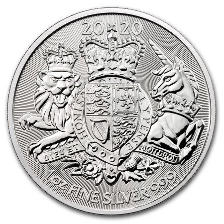 1 Troy ounce zilveren munt Royal Arms 2020