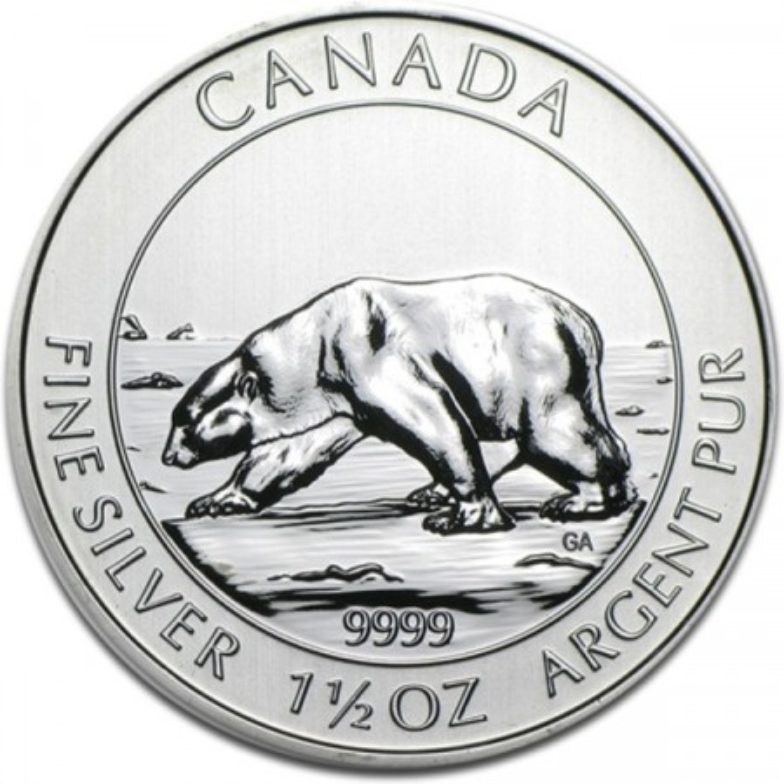 1,5 troy ounce zilver IJsbeer munt 2013