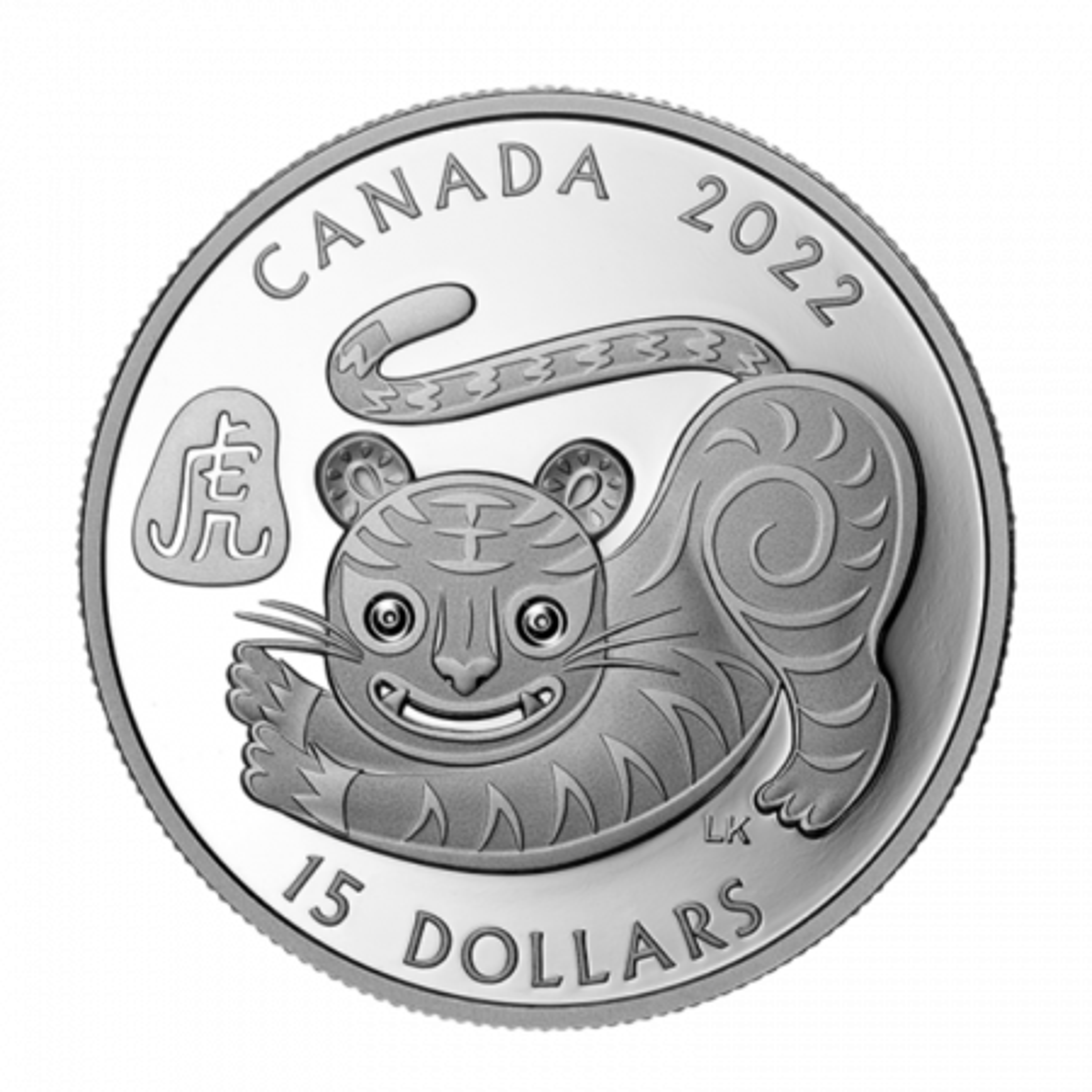 1 Troy ounce zilveren munt Lunar 2022 Proof jaar van de tijger