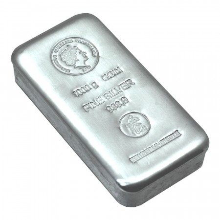 1 kilo Cook Islands zilver munt baar
