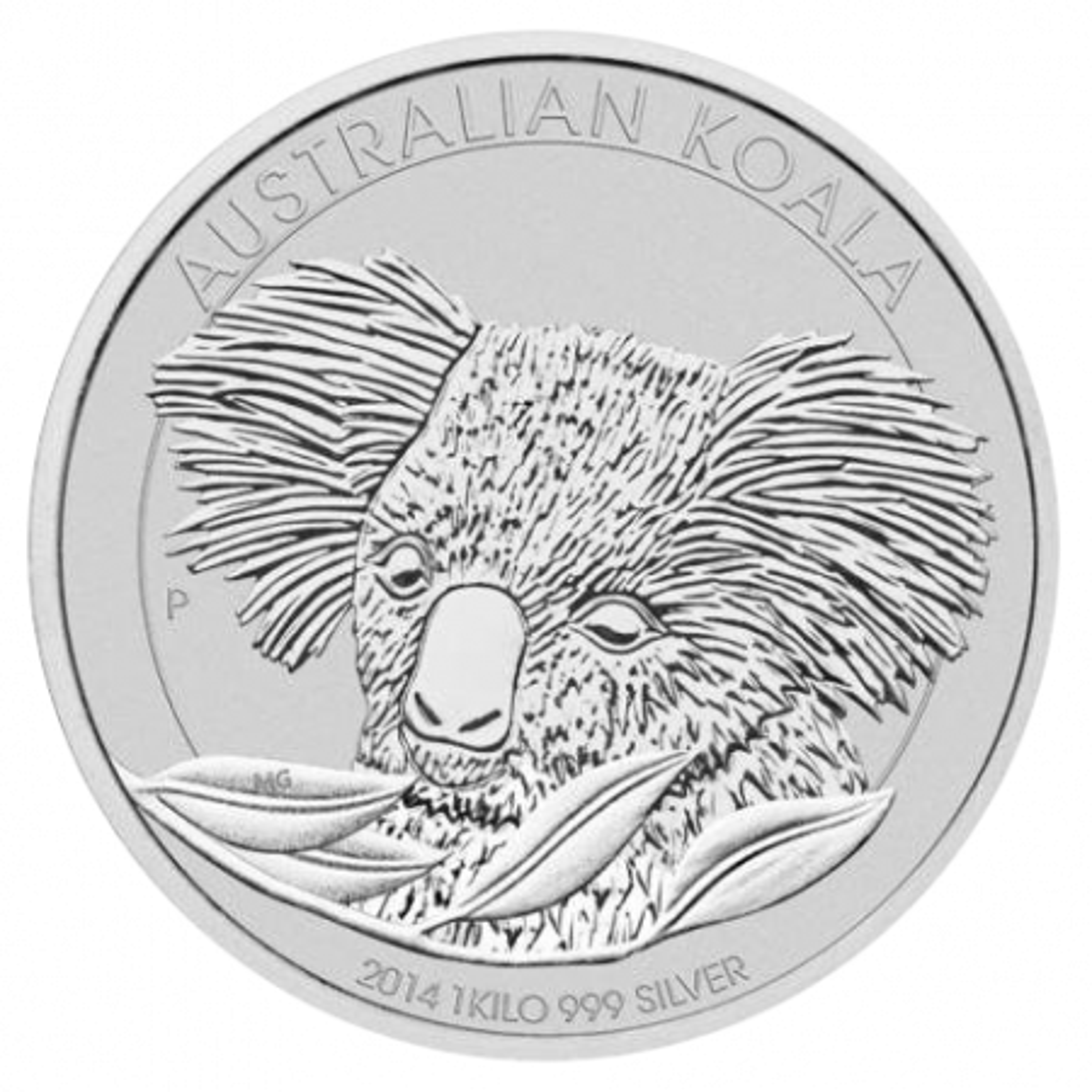 2014 zilver kilo Koala munt