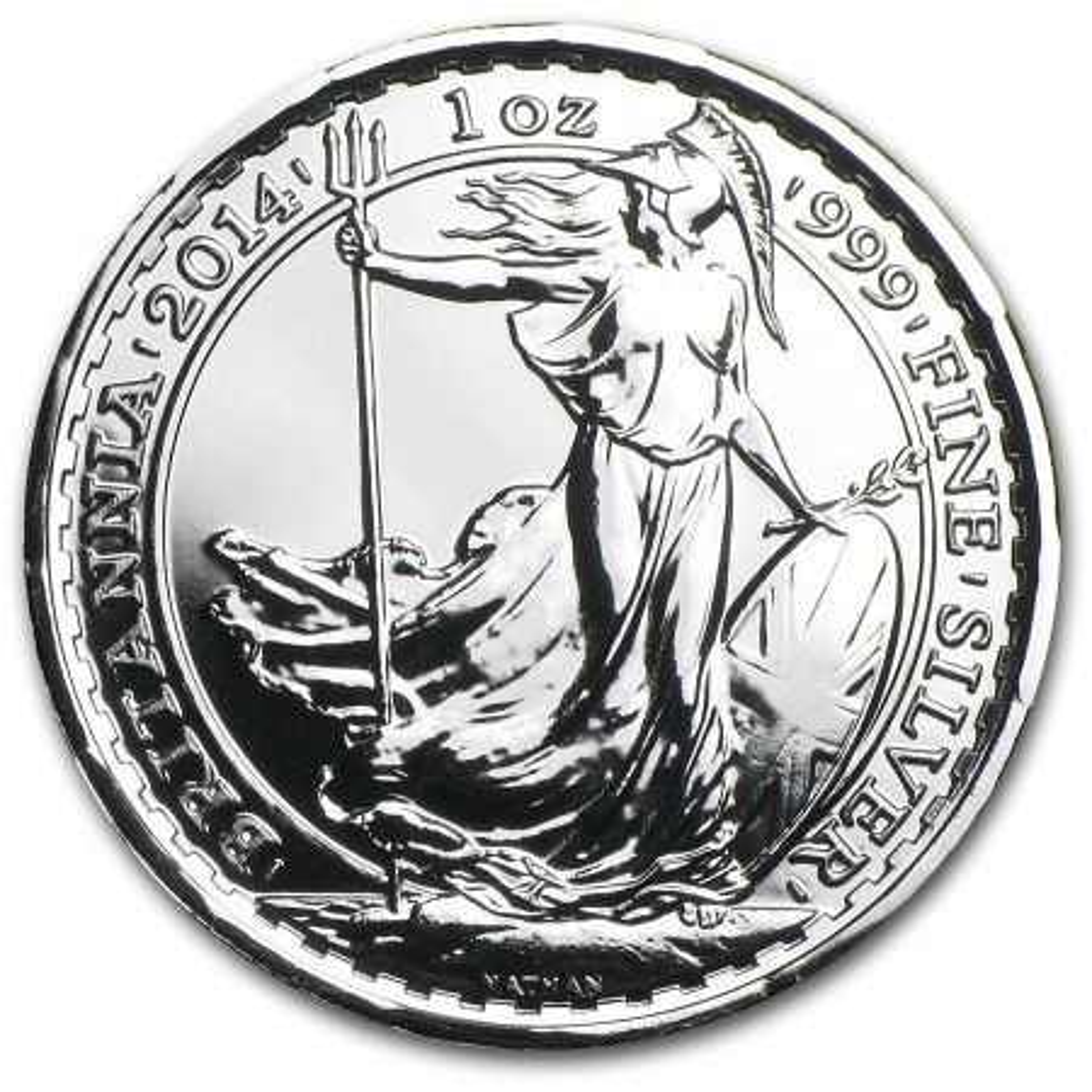 1 Troy ounce zilver Britannia 2014 munt privy horse
