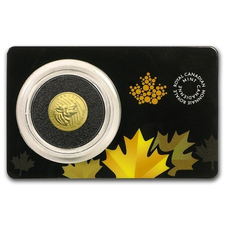 1/10 troy ounce gouden Howling Wolf 2015 Assay card