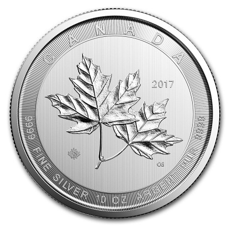 10 Troy ounce zilveren munt Maple Leaf 2017
