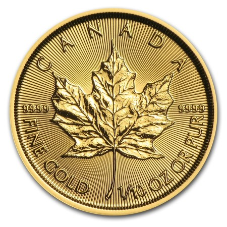 1/10 Troy ounce gouden Maple Leaf munt 2017