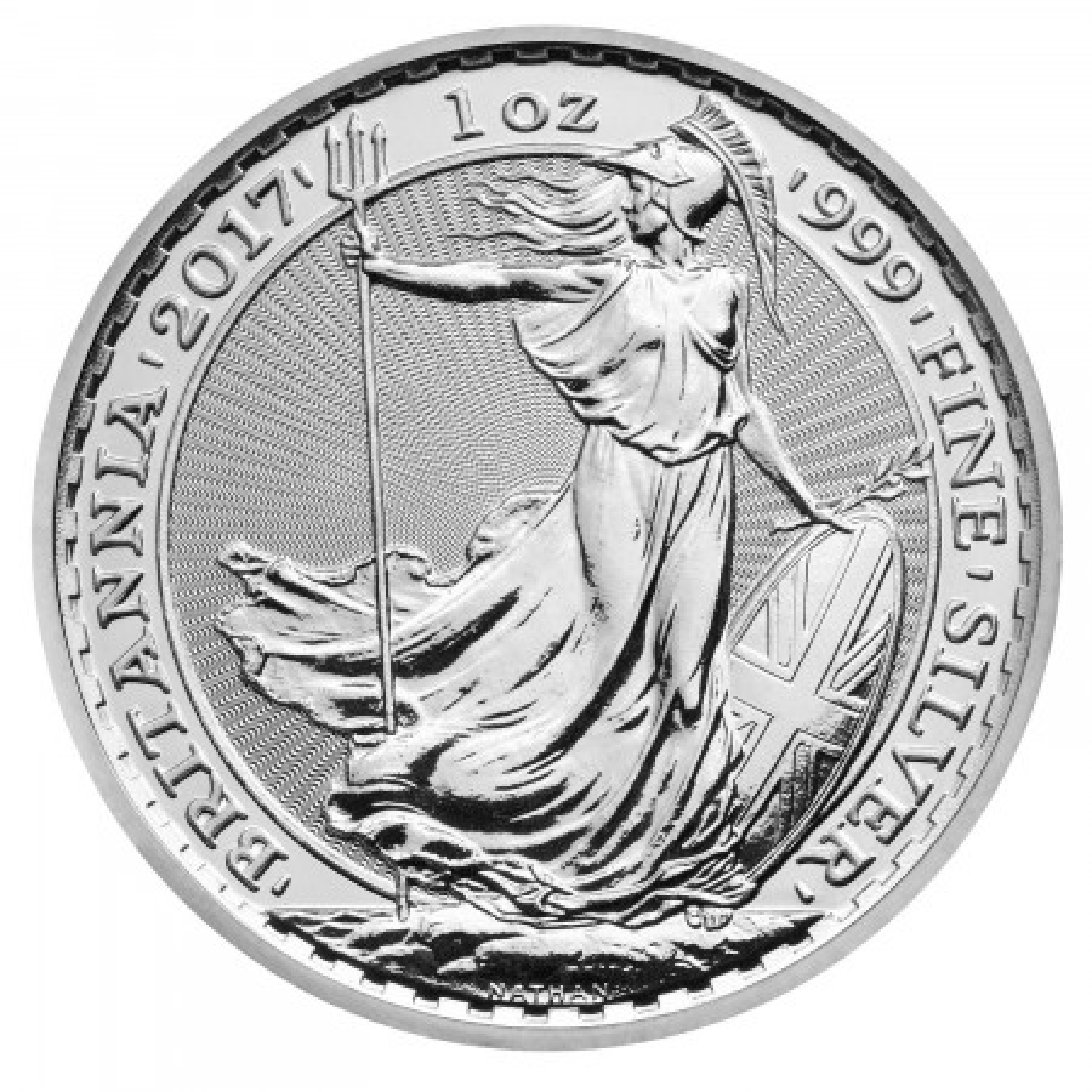 1 troy ounce zilveren Britannia munt diverse jaargangen