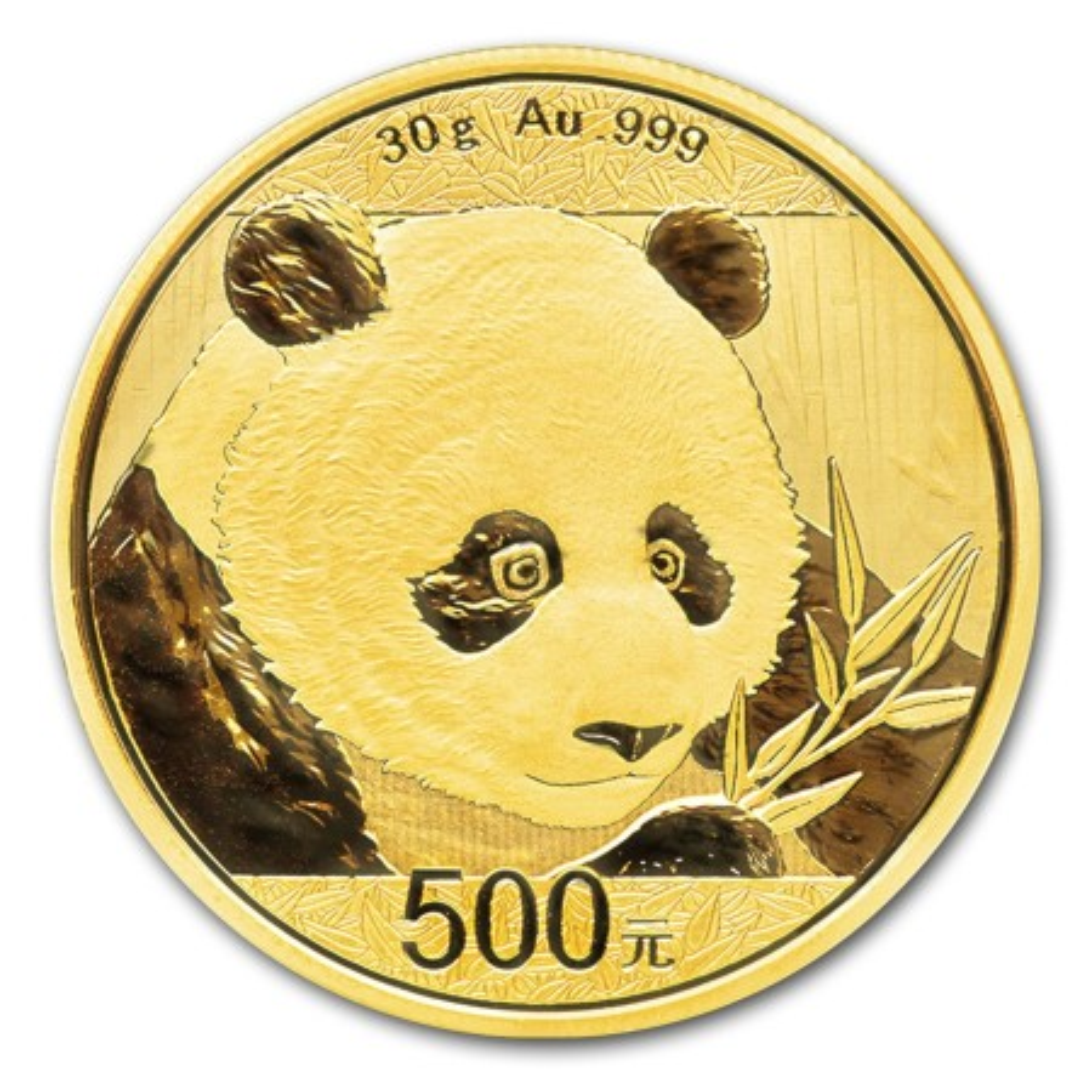 30 Gram gouden Panda munt 2017