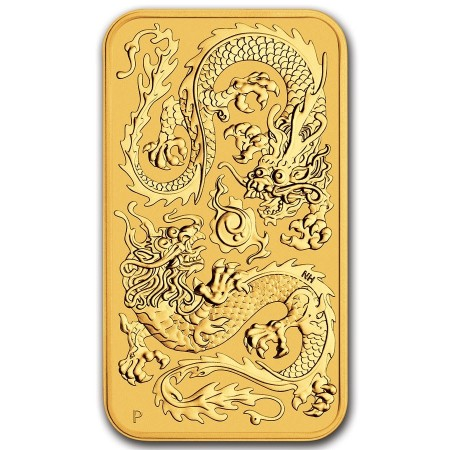 1 Troy ounce gouden muntbaar Rectangular Dragon 2020