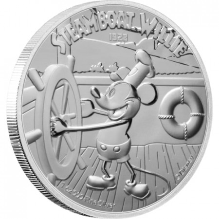 1 Troy ounce zilveren munt Disney Stoomboot Willie 2020 - Proof