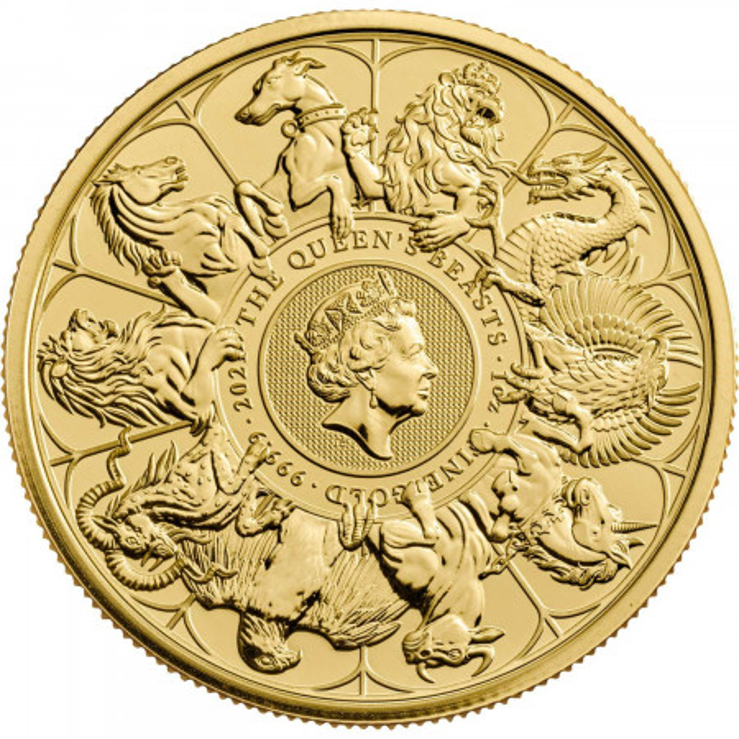 1 troy ounce gouden Queen's Beasts Completer 2021