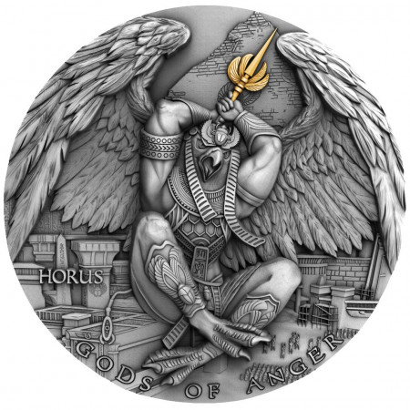 2 troy ounce zilveren munt God of Anger Horus 2020