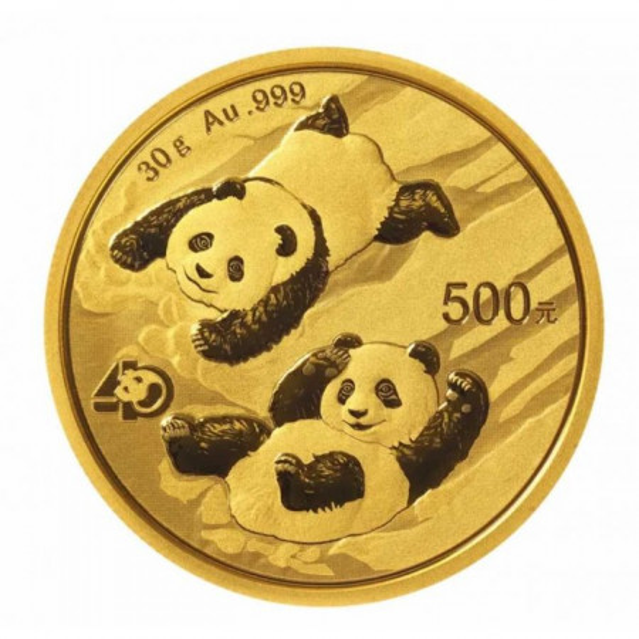30 gram gouden panda munt 2022
