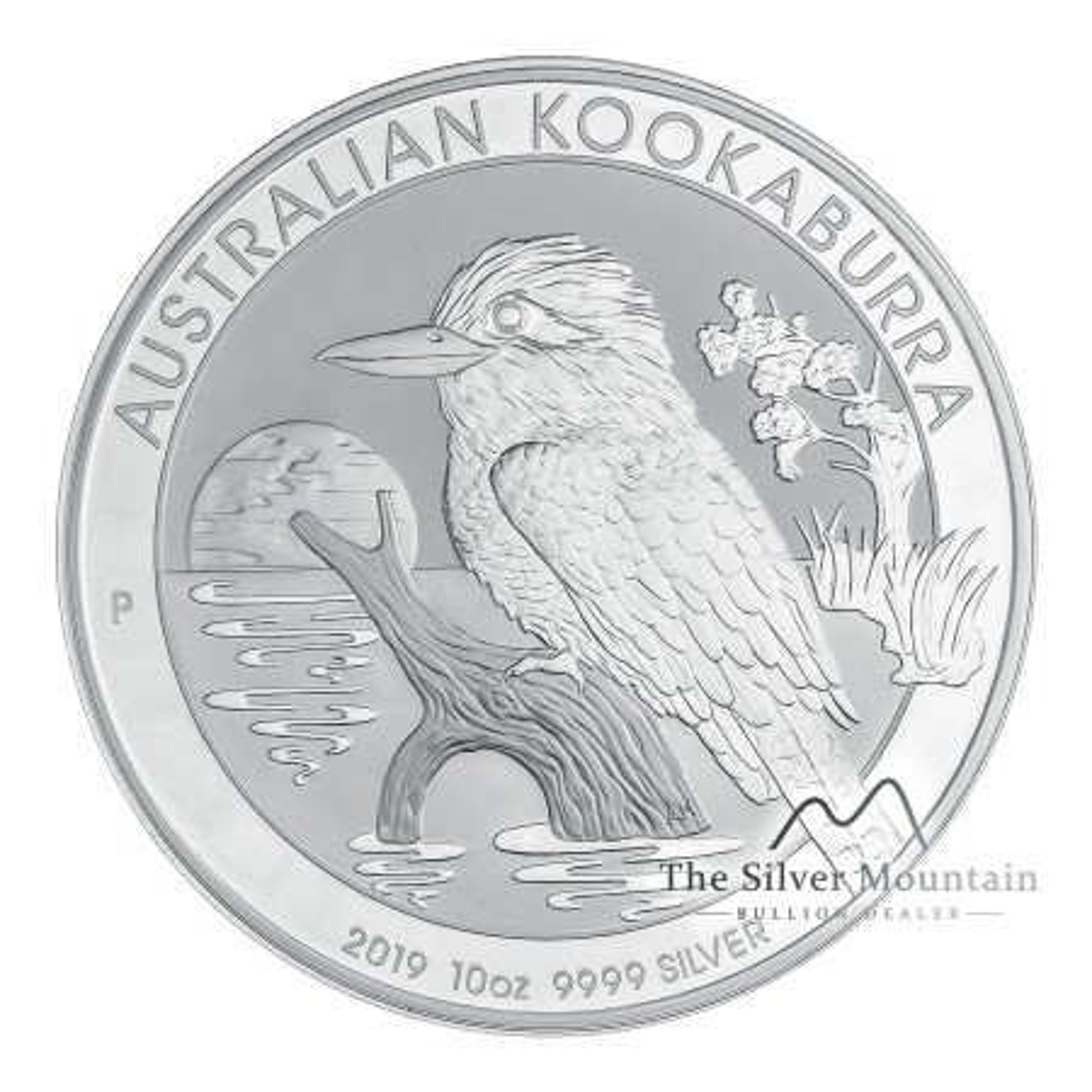 Gekleurde zilveren 10 troy ounce Lunar munt 2012