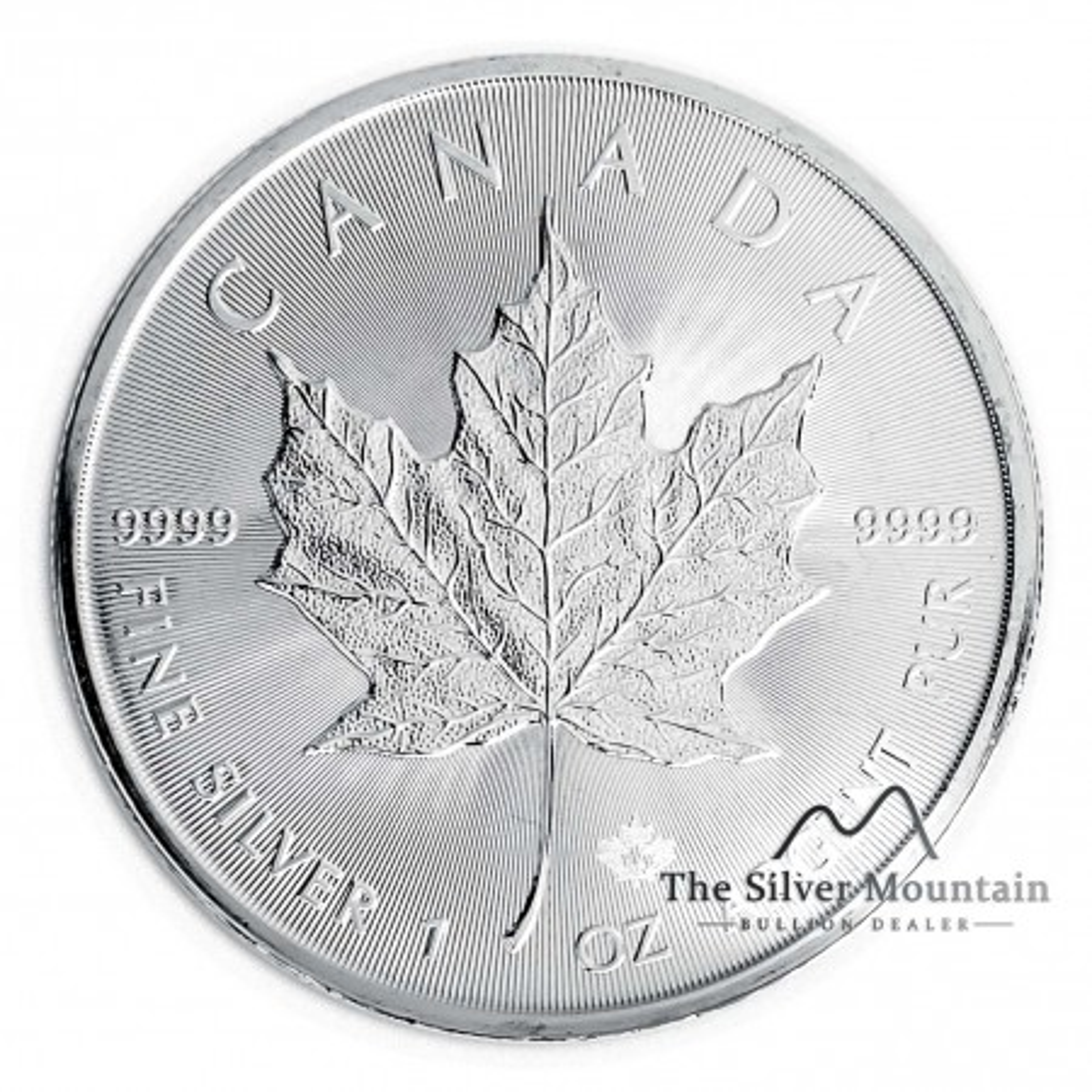 Nieuwe zilveren Maple Leaf munt 2019