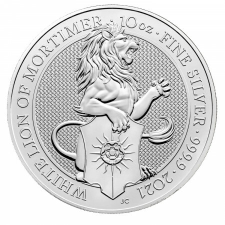 10 Troy ounce zilveren munt Queens Beasts White Lion