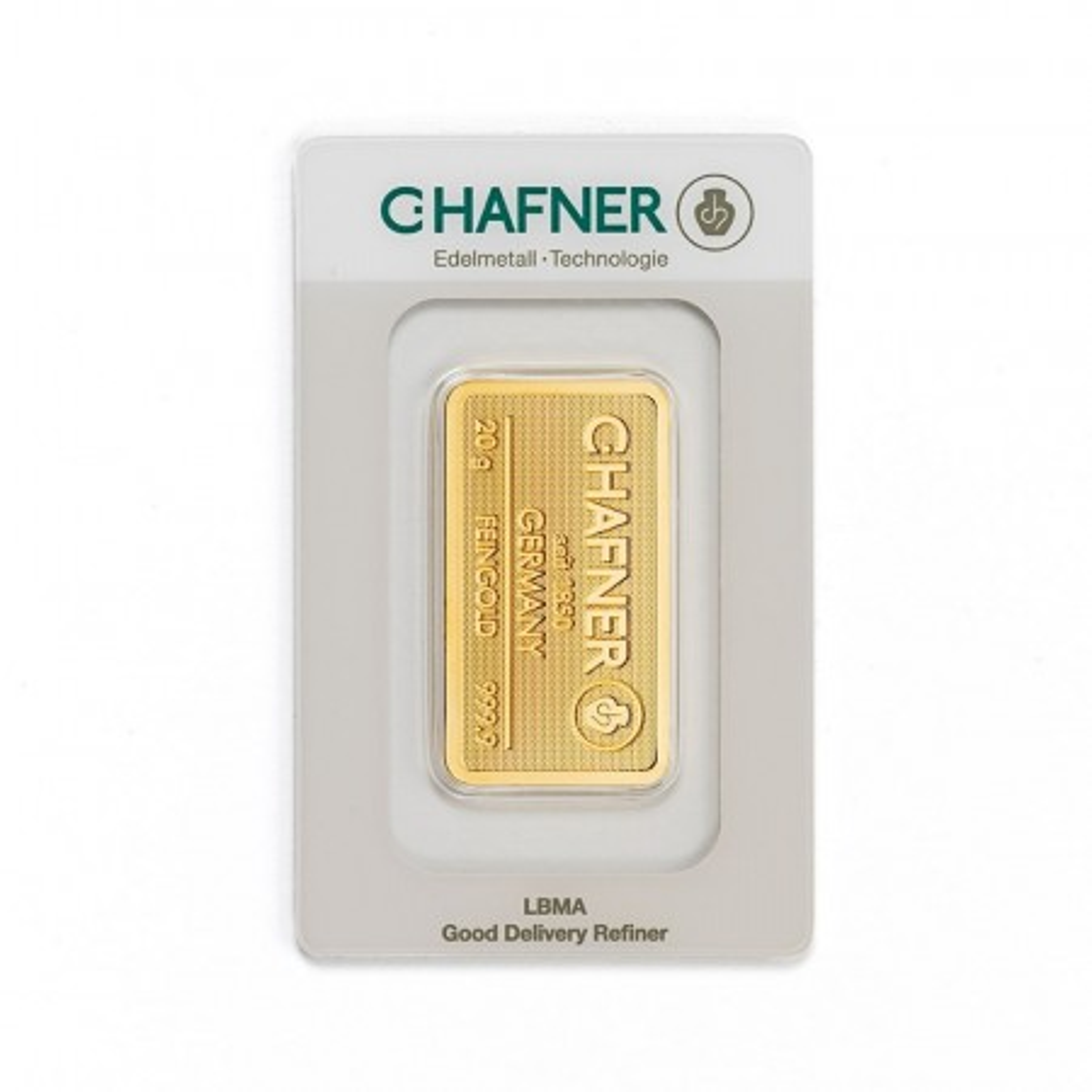 Goudbaar 20 gram C. Hafner
