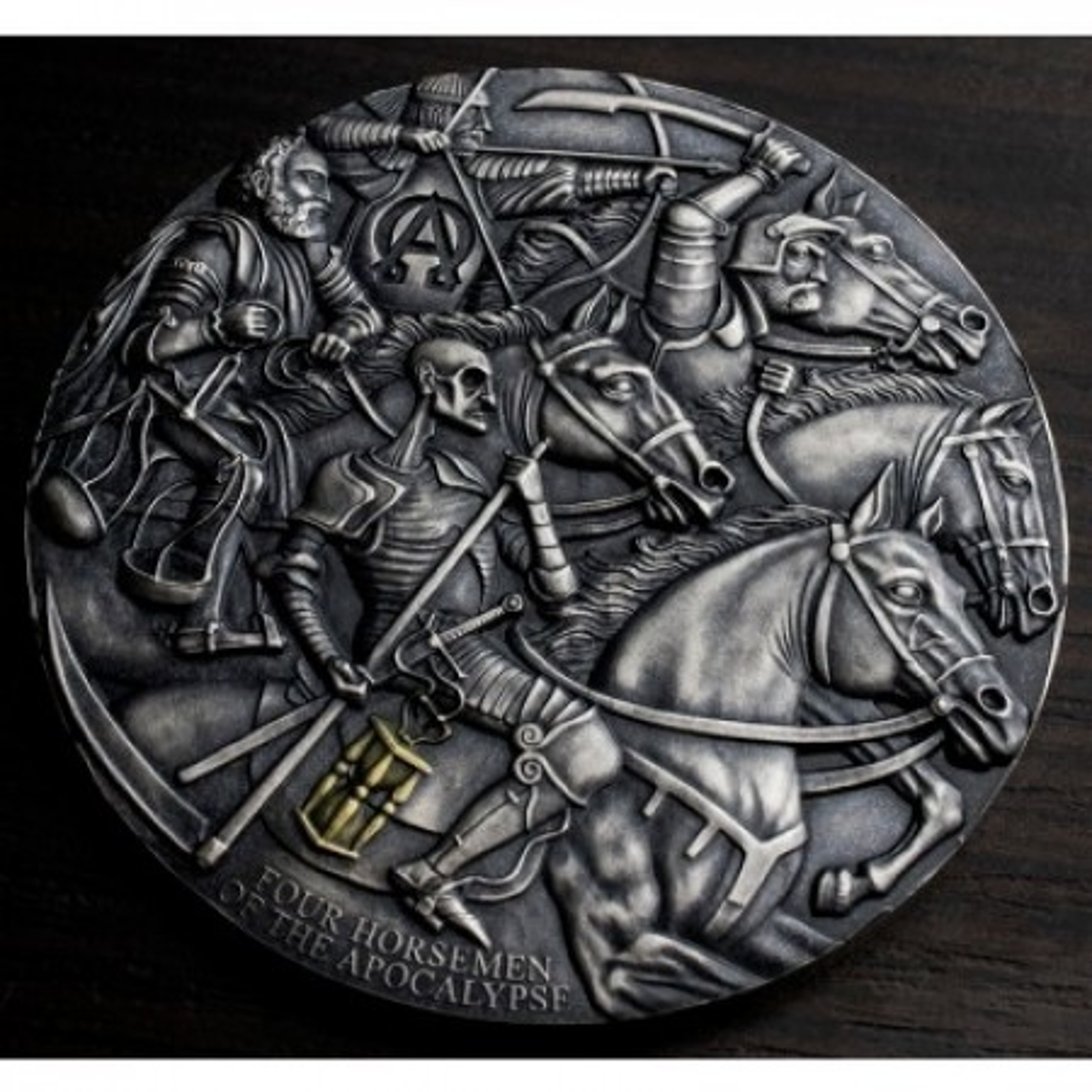 3 Troy ounce zilveren munt Apocalypse - Four Horsemen