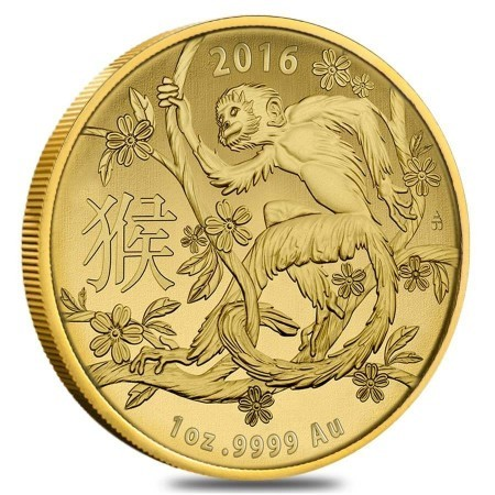 1 Troy ounce gouden munt China Lunar 2016