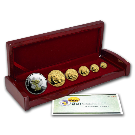 2011 China Panda Gold And Lunar Premium Set