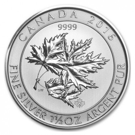 1.5 Troy ounce zilveren Multi Maple Leaf munt 2016