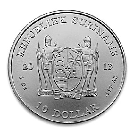 Zilver 1 troy ounce munt Suriname 2013