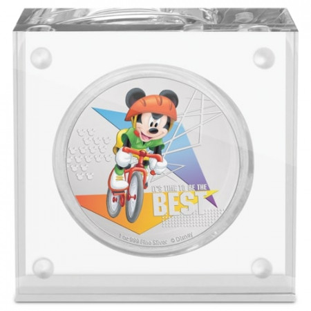 1 troy ounce zilveren munt Disney Micky Mouse - it's time to be the best 2020 Proof