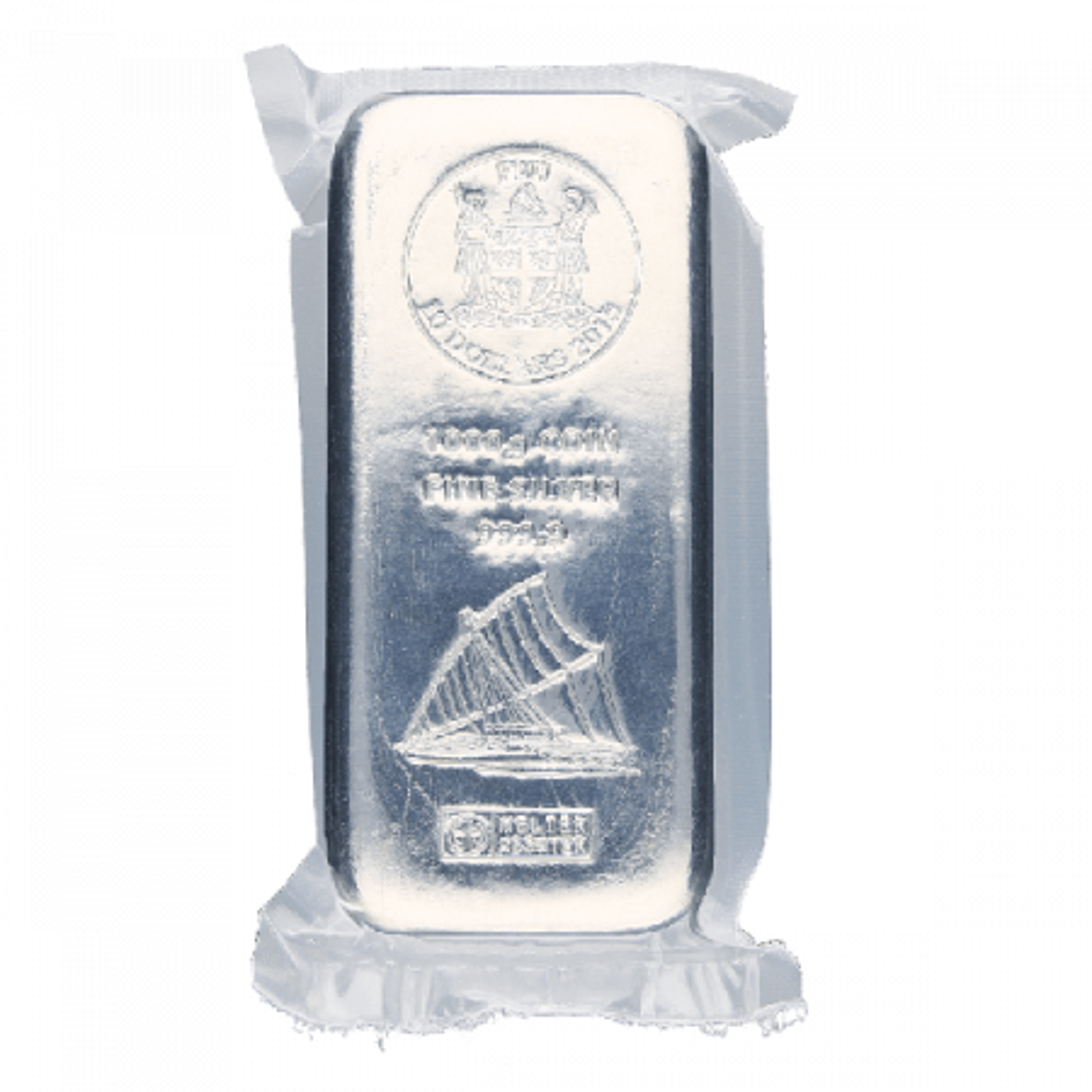 500 Gram zilveren muntbaar Heraeus
