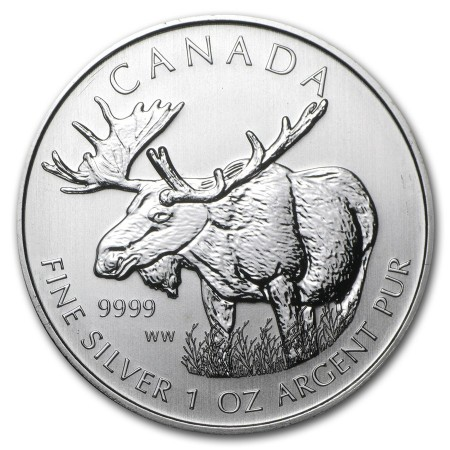 1 Troy ounce zilveren munt Moose 2012
