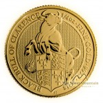 1/4 Troy ounce gouden munt Queens Beasts Black Bull 2018