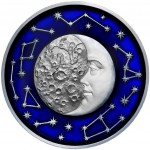 2 Troy ounce zilveren munt Moon