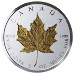 3 Troy ounce zilveren munt Maple Leaf 40th Anniversary 2019 Proof