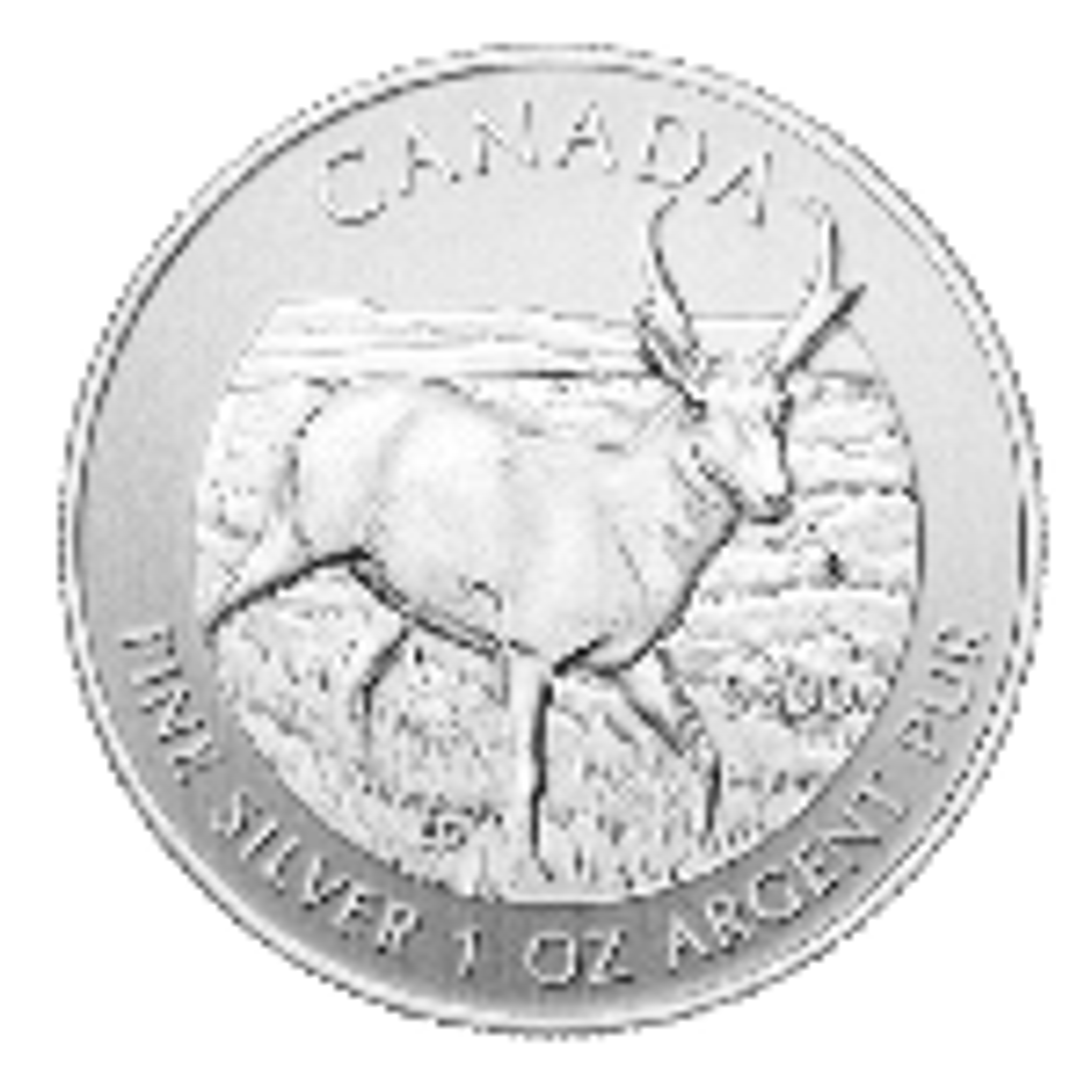 1 troy ounce zilver Maple Leaf Antilope 2013