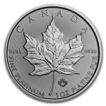 1 Troy ounce platina Maple Leaf munt 2018