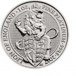 1 Troy ounce platina munt Queens Beasts Lion