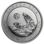 3/4 Troy ounce zilveren Howling Wolves munt - 2016