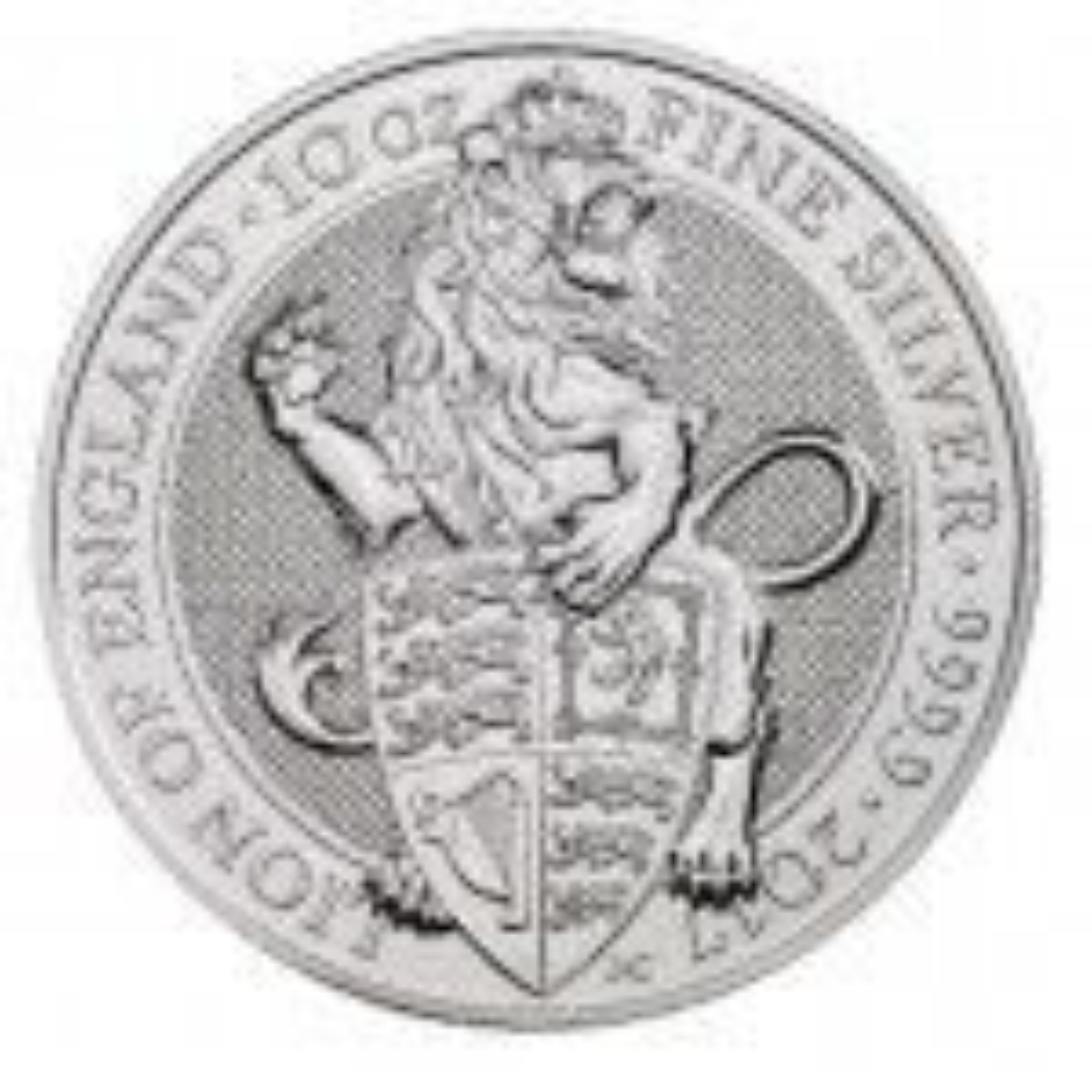 10 Troy ounce zilveren munt Queens Beasts Lion