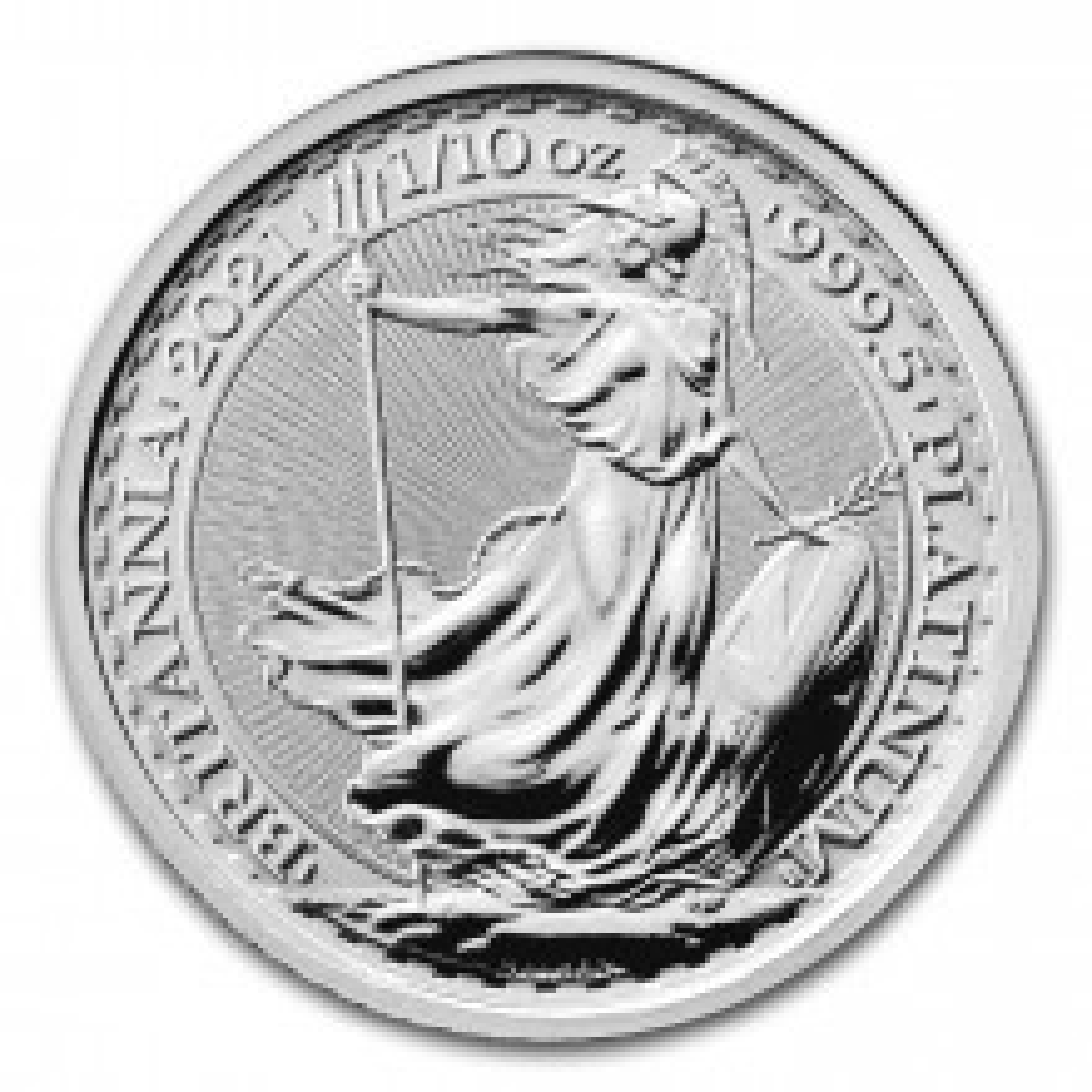 1/10 Troy ounce platina munt Britannia 2021
