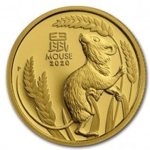 1/10 Troy ounce gouden munt Lunar 2020 Proof